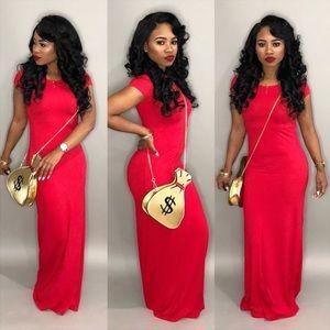 Dresses & Skirts - Red Maxi Dress